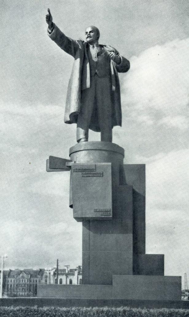 S. Evseyev. Monument to Lenin at Finlyandsky railway station in Leningrad. Bronze, granite. 1926