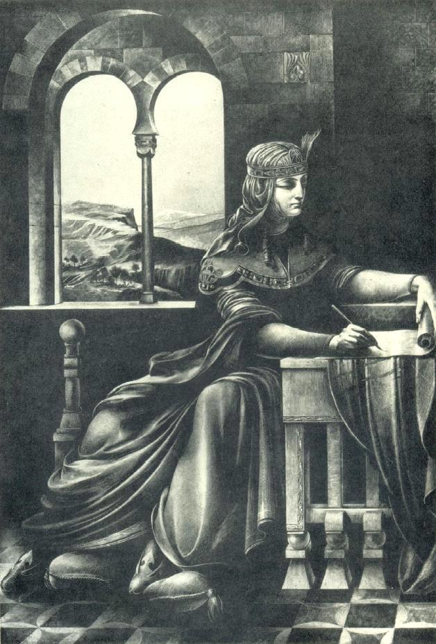 S.S. Kobuladze. Illustration for the poem of Shota Rustaveli 'Knight in tiger skin'. 1936-1937. Gouache, ink