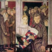 Seeing off. 1941 year.1969. Organic, levkas (Perm Art Gallery)