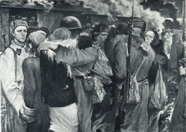 Seeing off. 1941