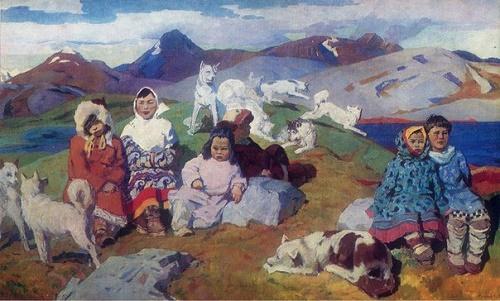 Serafim Frolov (1924-1970). Chukchi children. 1969