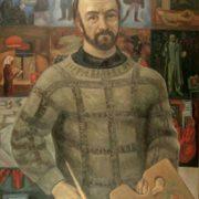 Sergey Nikiforov (1920-2005). 'From the life of Artist Viktor Popkov '. 1974