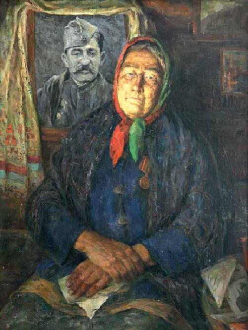 Soldier widow. 1985. Artist Dyomin F.N. Tomsk art museum