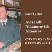 Soviet artist Alexandr Nikanorovich Alimasov