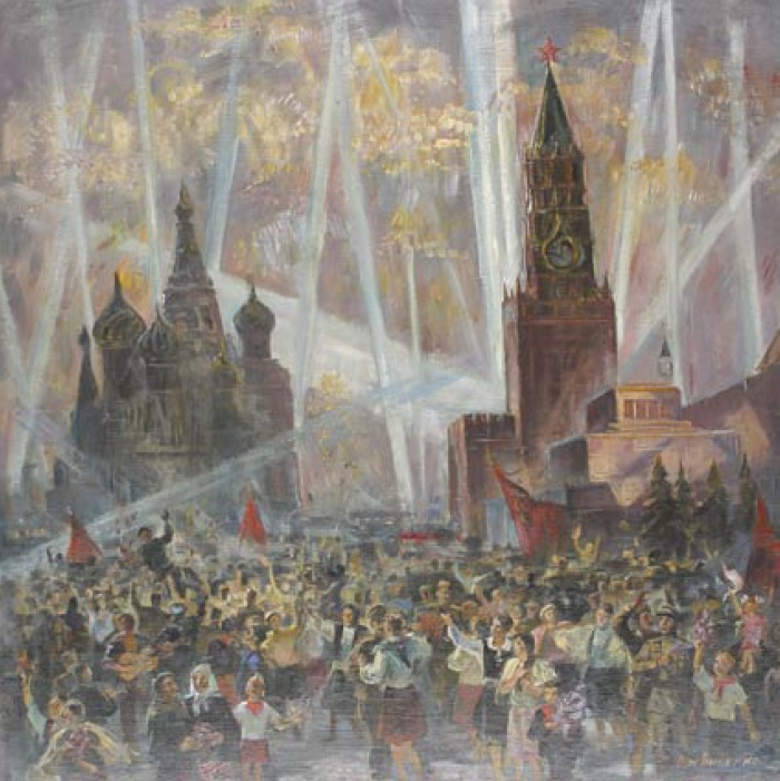 Spiridon Logvinenko. Fireworks in honor of Victory. 1987