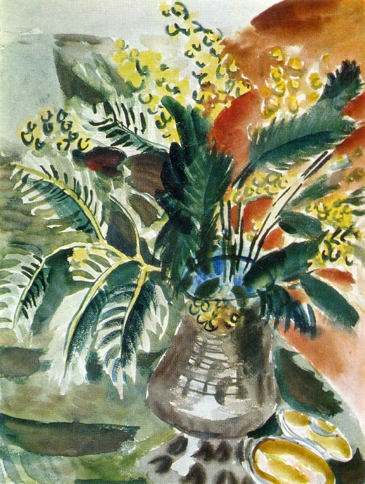 T.A. Mavrina. Mimosa. Watercolor. 1938
