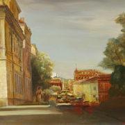 T.P. Mikhailik. Tomsk landscape. Canvas, oil