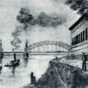 The Okhten Bridge. Dry needle. 1931