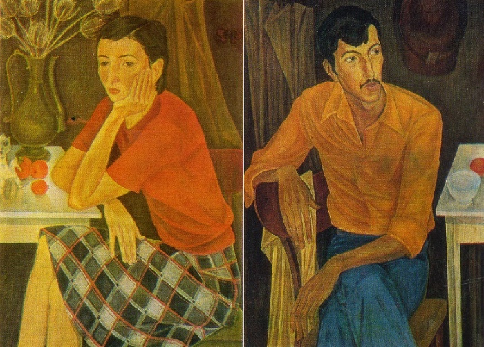 The Two. Diptych (left). 1978. L.A. Oborina