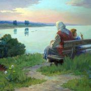 The Volga river. 1981
