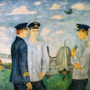 The crew of the local line. 1973. gesso, tempera (the Russian Union of Artists)