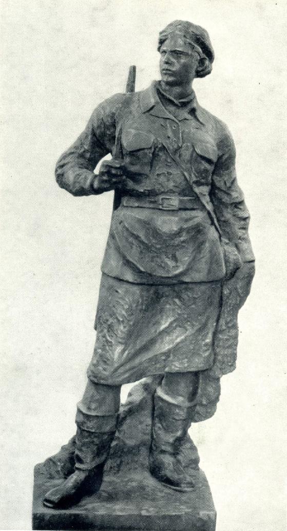 V. Isayeva. Partisan. 1943