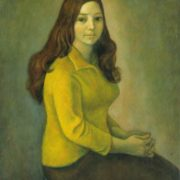 V. Nozina's portrait. Oil on canvas, 1978