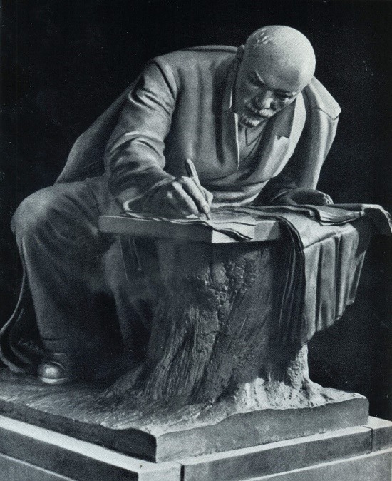 Soviet sculptures high spiritual pathos. V.B. Pinchuk. Lenin in Razliv. Bronze. 1935