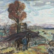 V.B. Vlasov. Autumn in the village of Gorino. 1990s