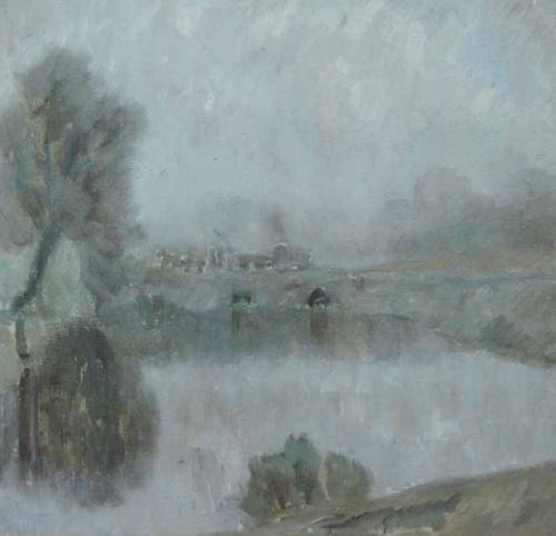 V.I. Korolev. Foggy morning in Troitskoye. 1980. V.I. Korolev