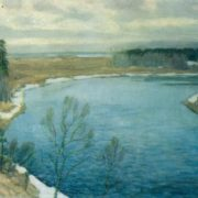 V.K. Byalynitsky-Birulya. The ice has melted. 1930