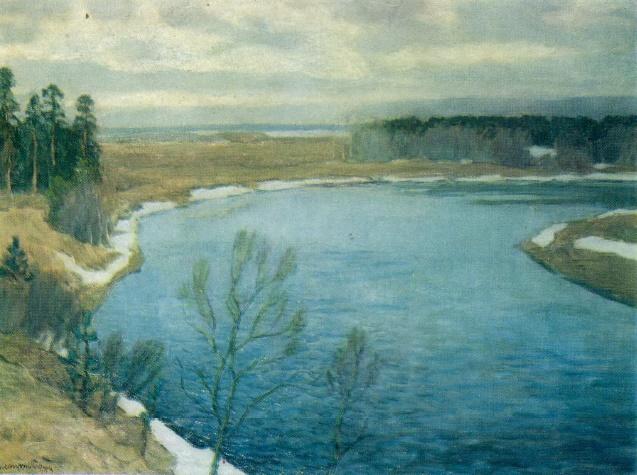 V.K. Byalynitsky-Birulya. The ice has melted. 1930