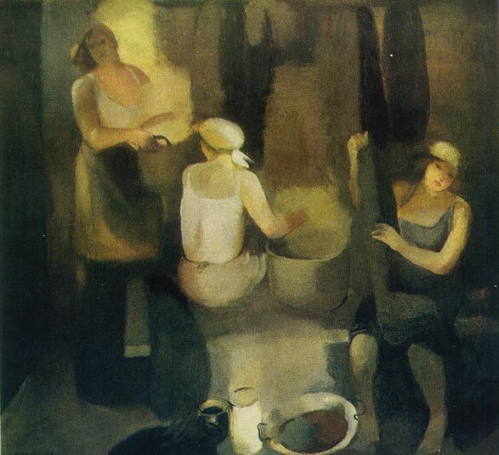V.L. Mertsa. Yarn dyers. 1979