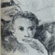 V.N. Chekrygin. Portrait of a boy. 1920