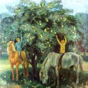 V.V. Yelchaninov (Smolensk). From childhood. 1981. Oil on canvas