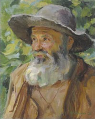V.Ya. Gonchar. Monk. 1975. Oil on canvas
