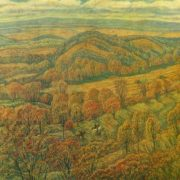 VA Pozdnov (Ufa). October in Bashkiria. 1979. Oil on canvas