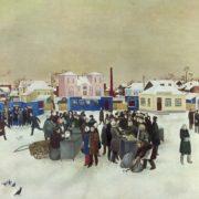 VN Rusanov. Tula market. 1975