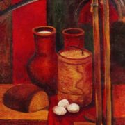 VP Arshinov. Peasant Still life. 1975