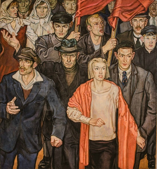 Valerian Loik (1904-1986). One-picture artists of Soviet period. The song of protest. 1963