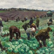 Vasily Boricenkov. Gathering cabbage. 1958