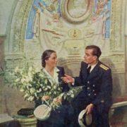 Vera Alexandrovna Orlova (1904-1993) 'In Moscow Metro', 1953