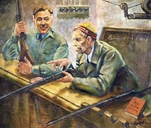 Viktor Gluzdov (1925). Voroshilov Sharpshooter. 1970