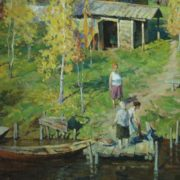 Vladimir Verizhnikov (1949 - 2002). Autumn on the River 1978