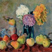 Vladimir Vladimirov (1886-1969). Apples and chrysanthemum. Canvas, oil. 1920