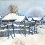 Winter in Uglich. 1949
