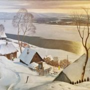 Winter landscape. 1980s