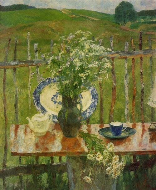 Yu. I. Penushkin (Leningrad). Wildflowers. 1980. Oil on canvas