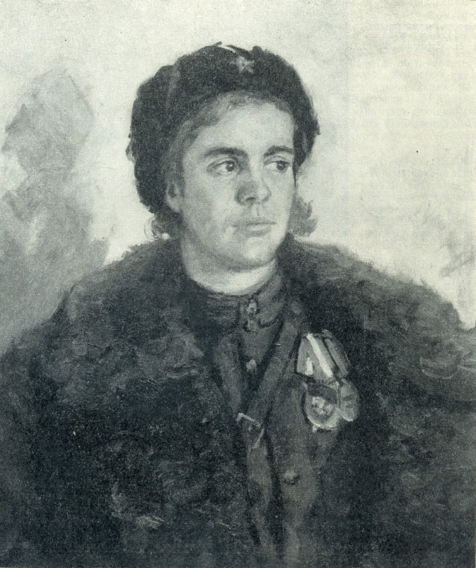Z. Pavlovsky. Portrait of partisan N. Khahalina. 1943