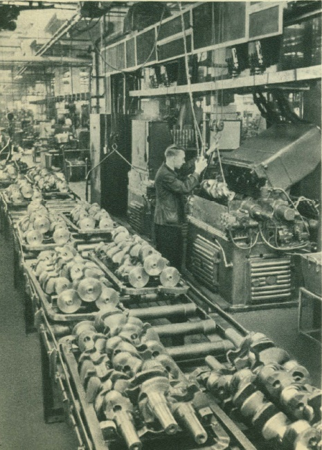section of high-frequency hardening of automotive parts at the Stalin plant
