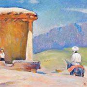 In Baisun. 1988. Painting by Ilya Rakhnaev (1934-2003)