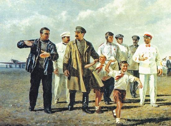 Soviet artist Pyotr Tarasovich Maltsev (17 December 1907 - 5 October 1993)