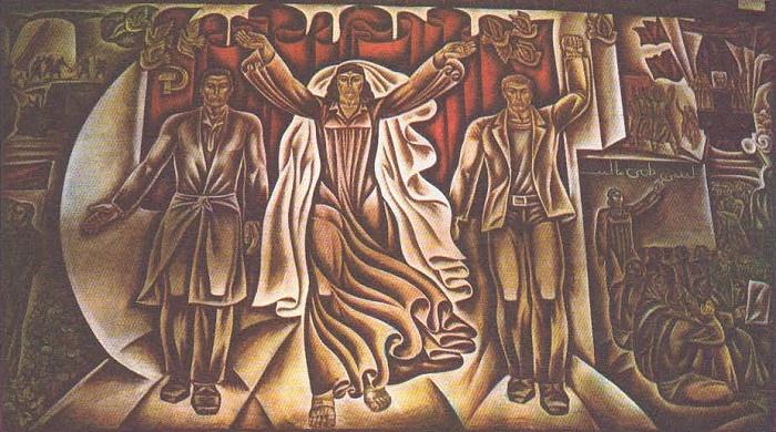 Soviet Tadjikistan. Tempera. 1974. Painting by S. Kurbanov (b. 1946)