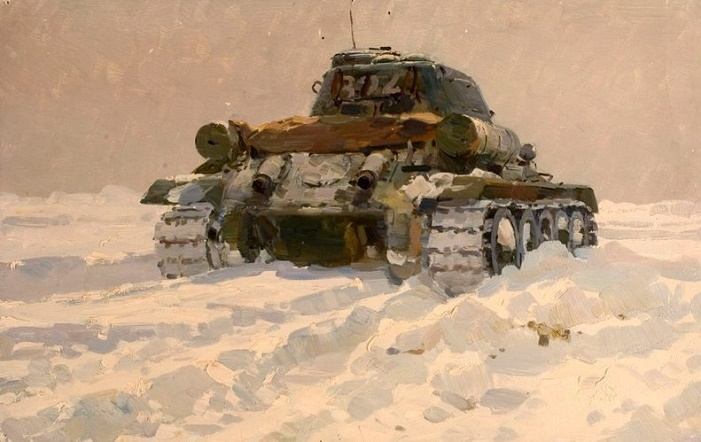 Tank in movement. 1982