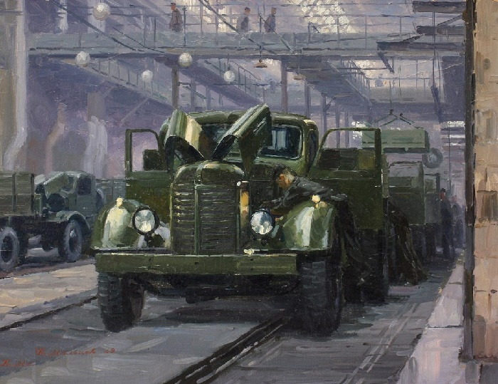 The Stalin Automobile Plant. Main conveyor, 1949