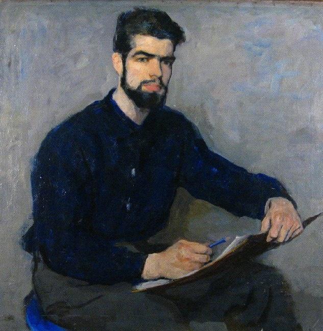 A.V. Oreshnikov, artist's son. 1963