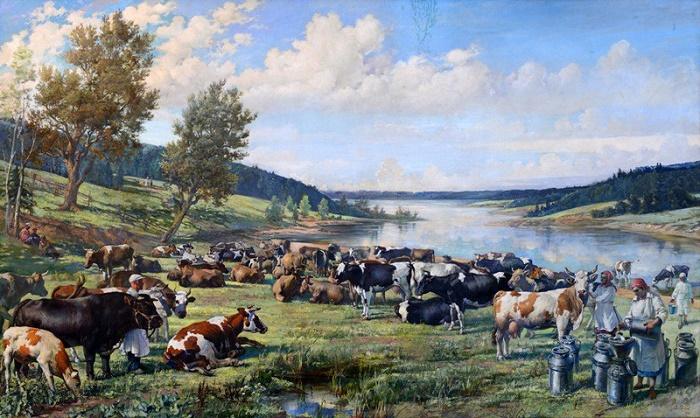 Collective farm herd. 1948