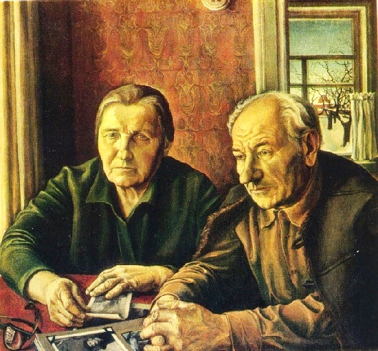 Eduard Alexeyevich Belogurov (1947-1998). Portrait of parents. 1978