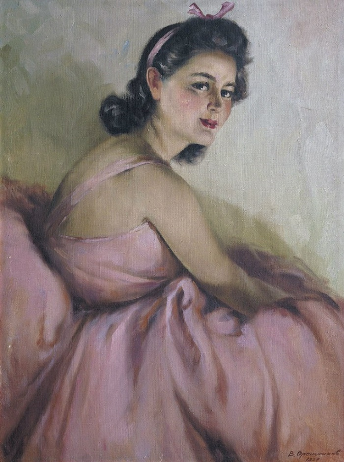 From the Dyptich 'Ballerina', ballerina in pink. 1937