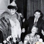 Leonid Gaidai, Nina Grebeshkova and Yuri Nikulin at a banquet on the occasion of the end of the shooting of the film 'The Diamond Arm', 1969